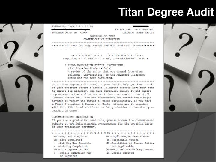 Titan Degree Audit