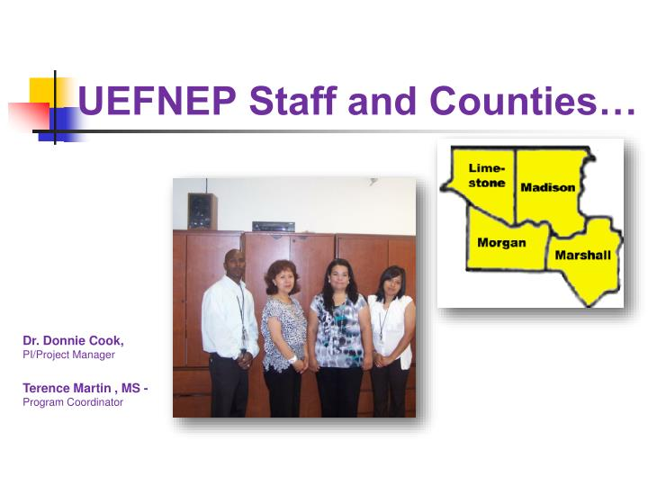 Uefnep staff and counties