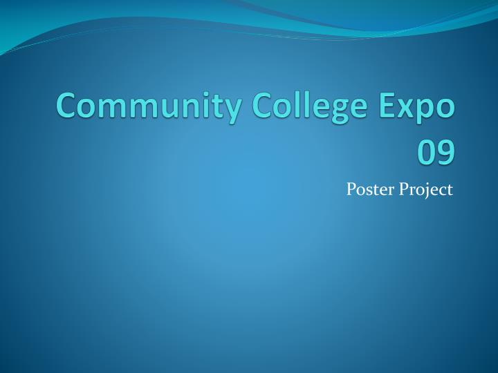 Community college expo 09