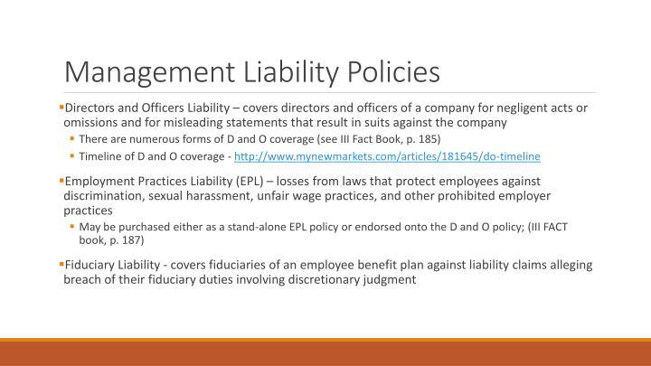 Management Liability Policies