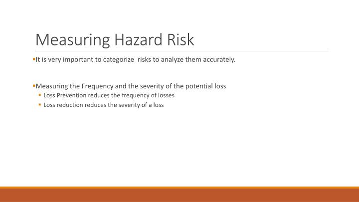 Measuring hazard risk