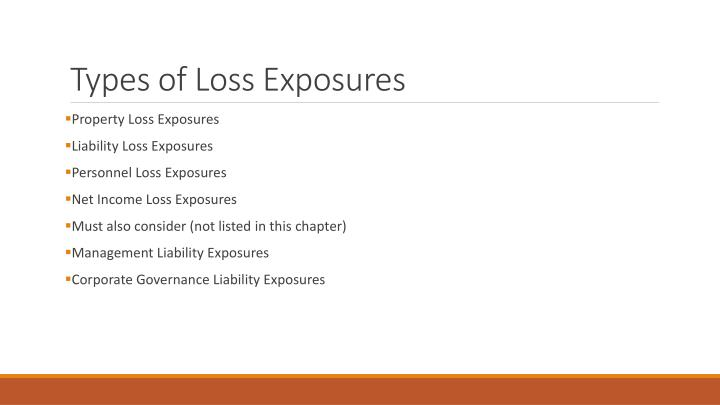 Types of Loss Exposures