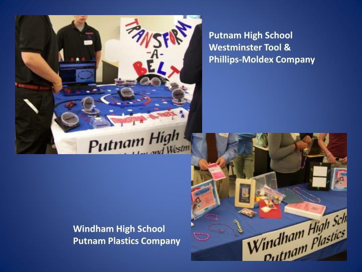 Putnam High School  Westminster Tool & Phillips-
