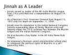 jinnah as a leader