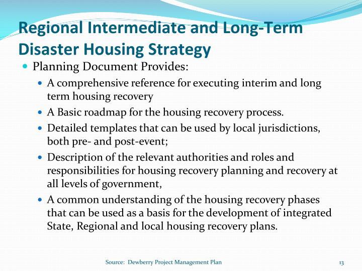 Regional Intermediate and Long-Term