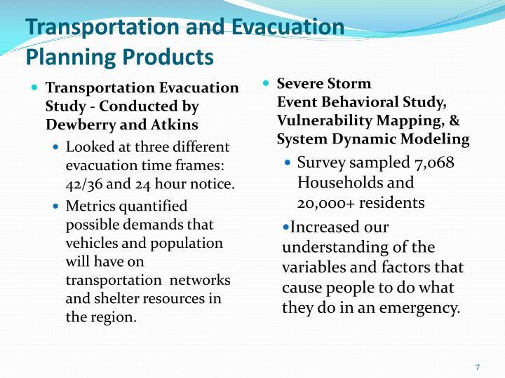 Transportation and Evacuation