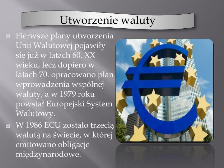 Utworzenie waluty