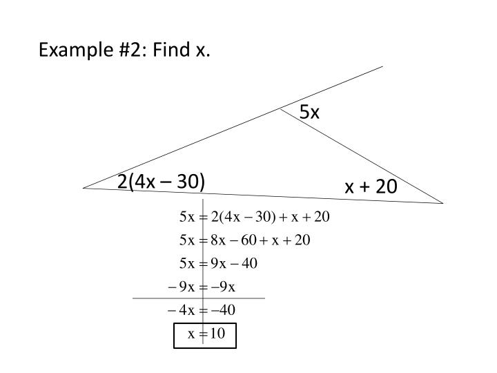 Example #2: Find x.