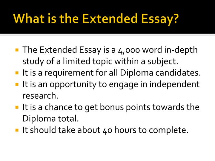 What is the extended essay