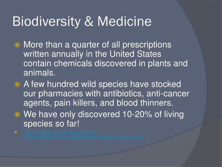 Biodiversity & Medicine
