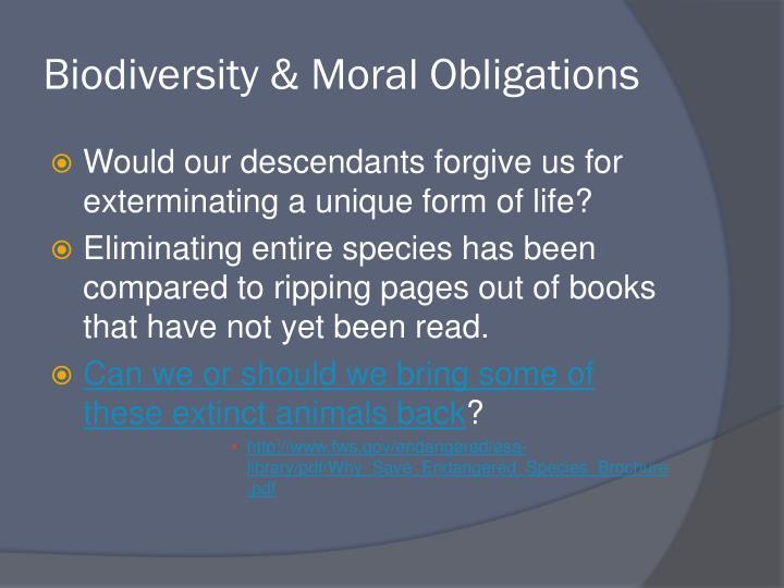 Biodiversity & Moral Obligations