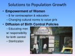 solutions to population growth