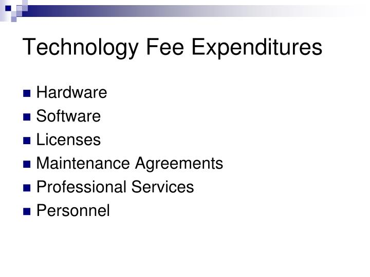Technology Fee Expenditures