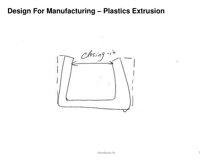 Design For Manufacturing – Plastics Extrusion
