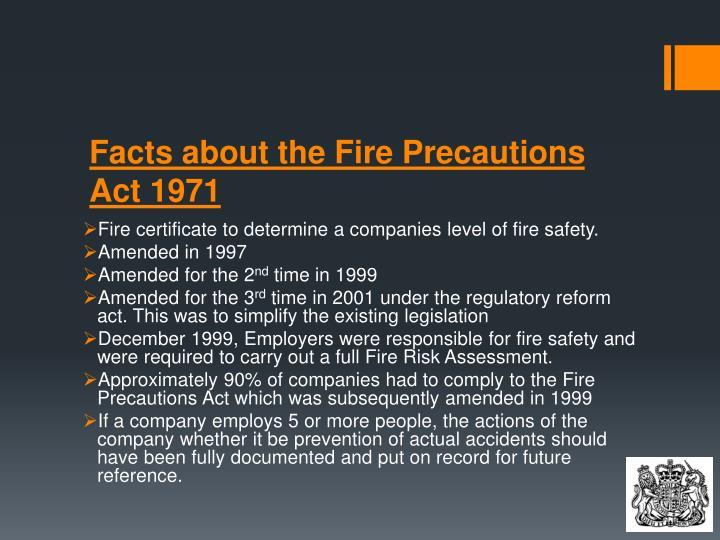 fire precautions act 1971 pdf