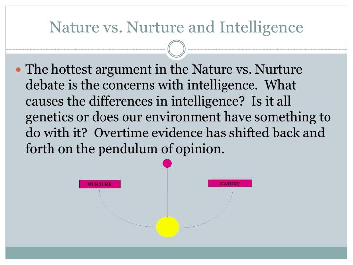 an argument of nurture versus nature Psychology 101 march 3, 2013 final paper-nature vs nurture argument this paper is going to covers nature verses nurture argument it will include the history and the essential characteristics.