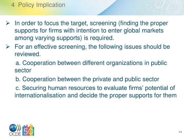 4  Policy Implication