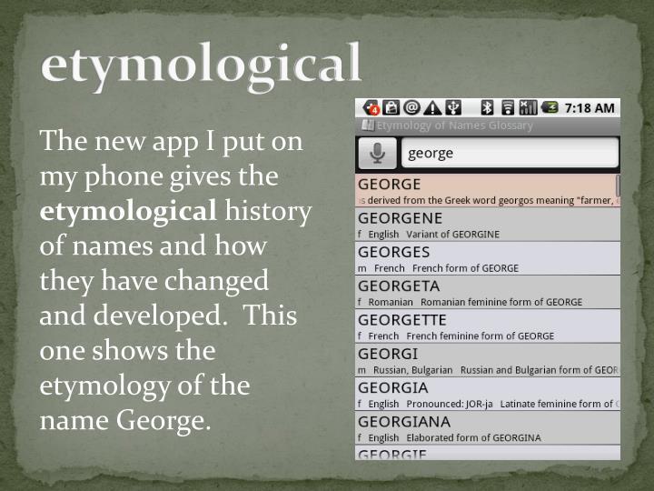 etymological