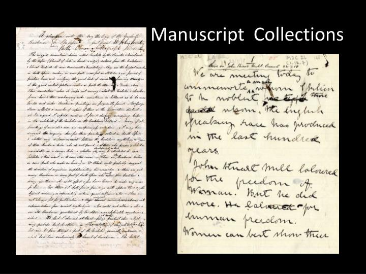 Manuscript  Collections