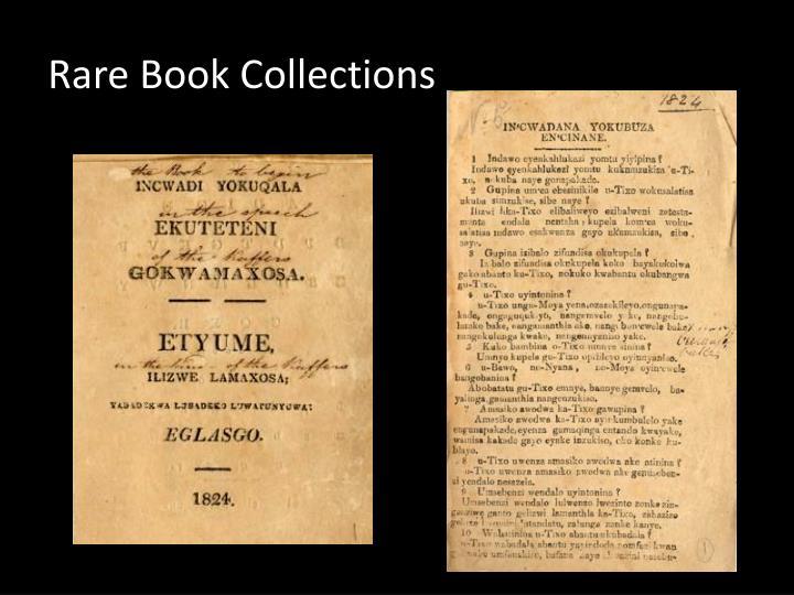 Rare Book Collections