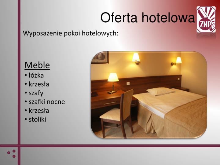 Wyposażenie pokoi hotelowych:
