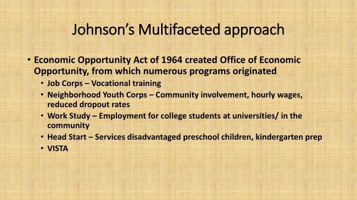 PPT - Johnson's War on Poverty PowerPoint Presentation ...