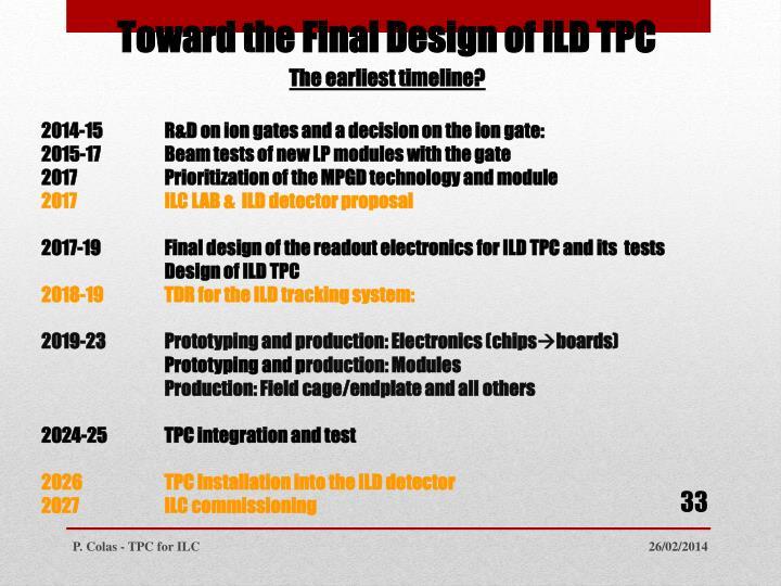 Toward the Final Design of ILD TPC