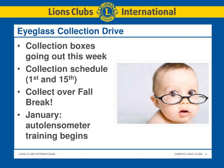 Eyeglass Collection Drive