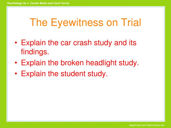 The Eyewitness on