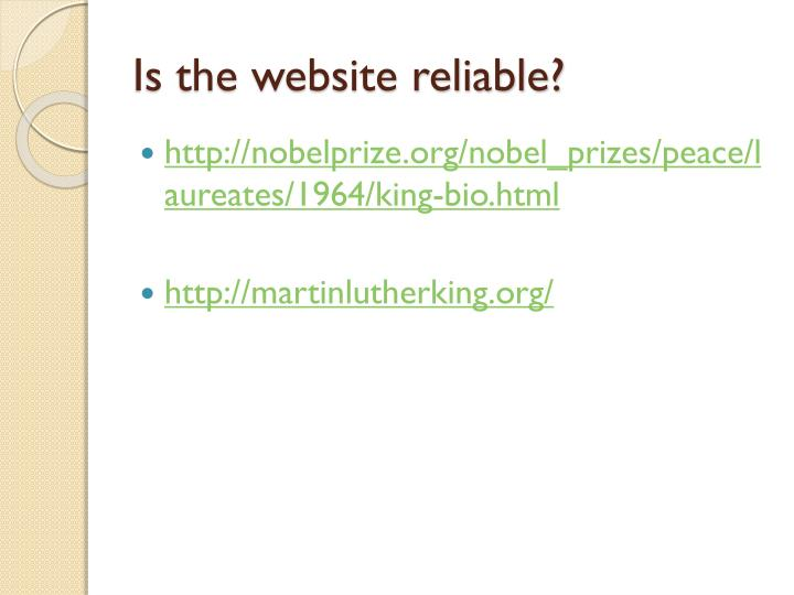 Is the website reliable?