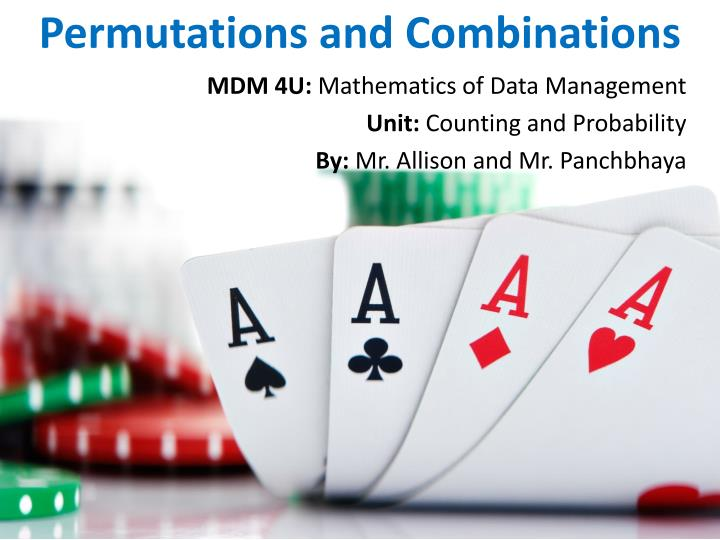 permutations and combinations n.