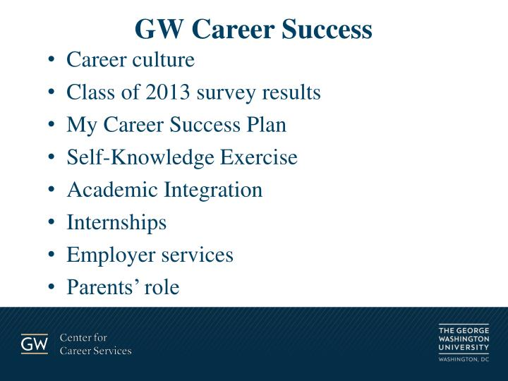 Gw career success