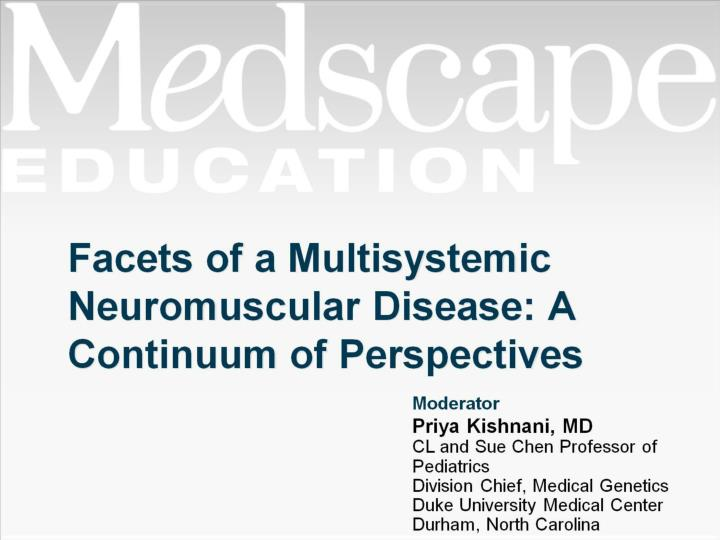Facets of a multisystemic neuromuscular disease a continuum of perspectives