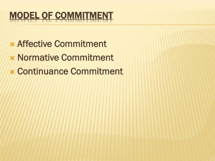 Affective Commitment