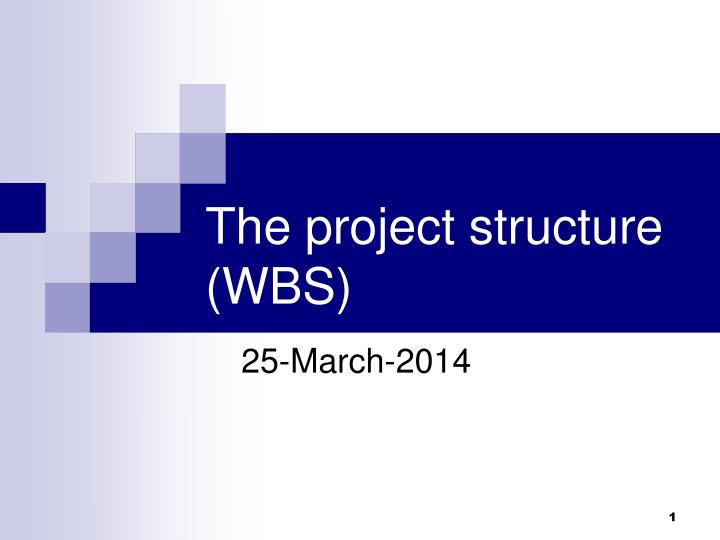 the project structure wbs n.