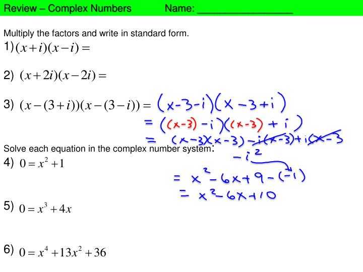 Ppt Multiply The Factors And Write In Standard Form 1 2 3