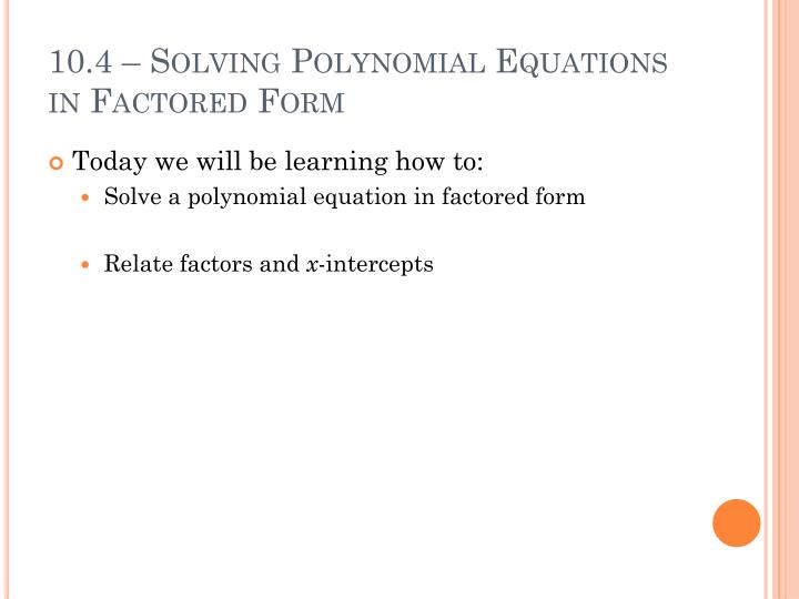 how to change factored form to standard form