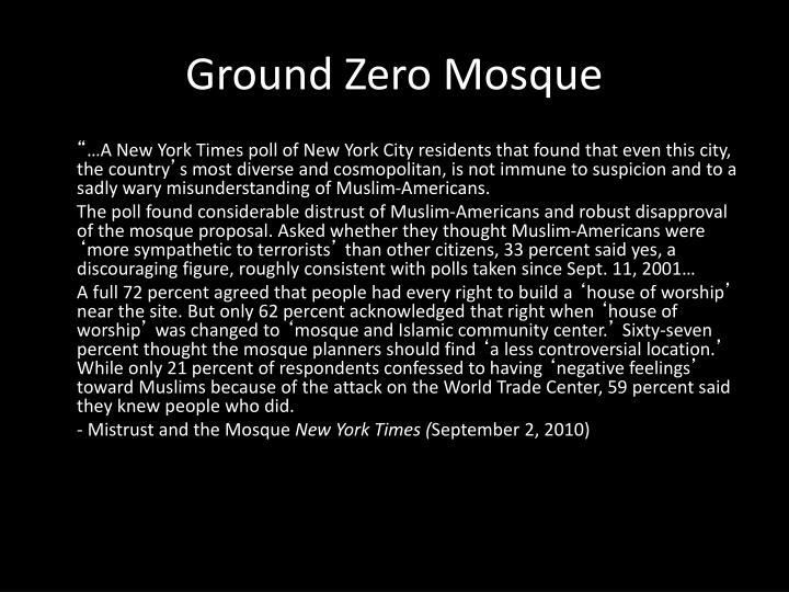 Ground Zero Mosque