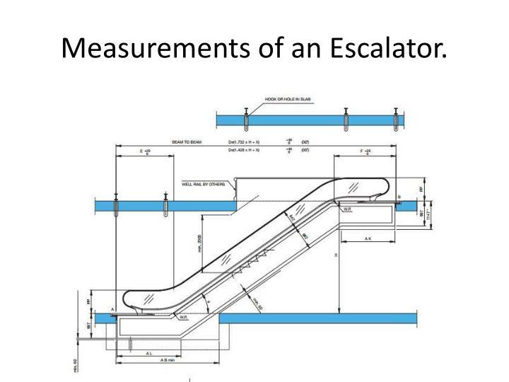 Measurements of an escalator