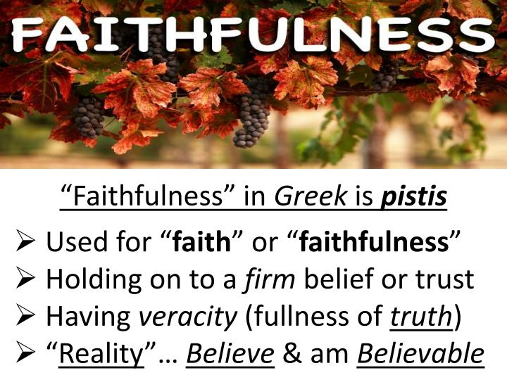 """Faithfulness"" in"