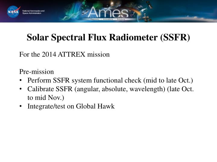 Solar Spectral Flux Radiometer (SSFR)