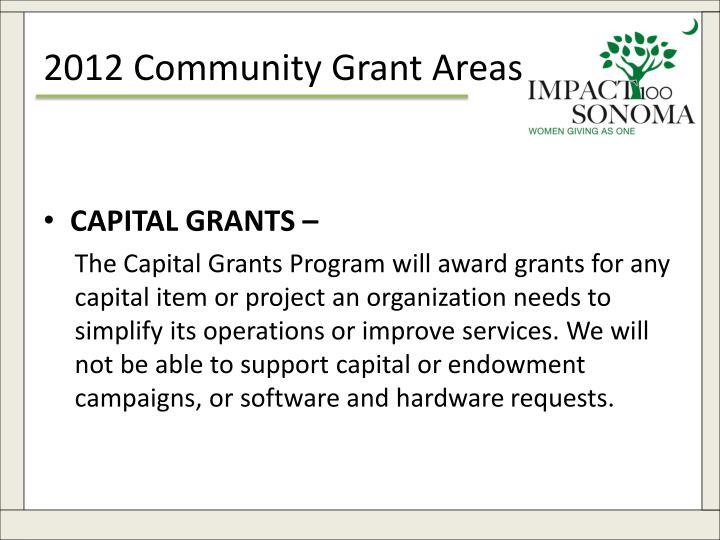 2012 Community Grant Areas