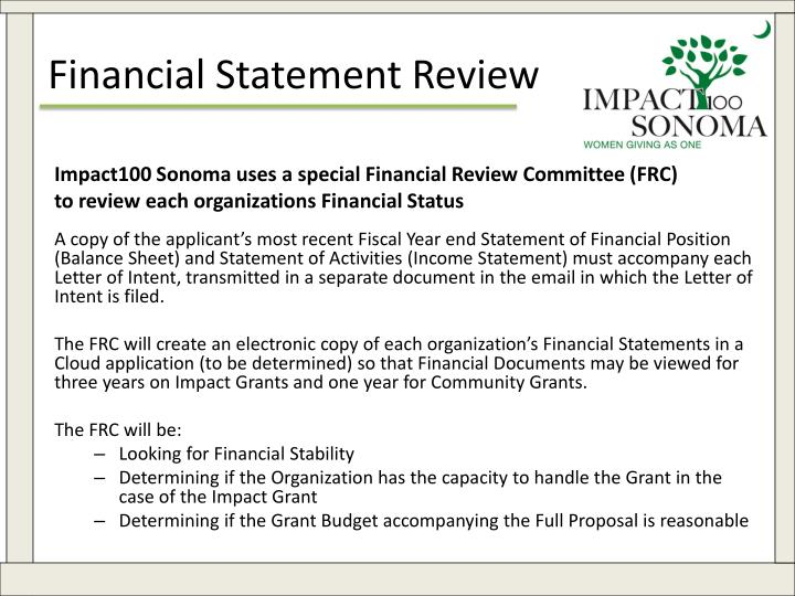 Financial Statement Review