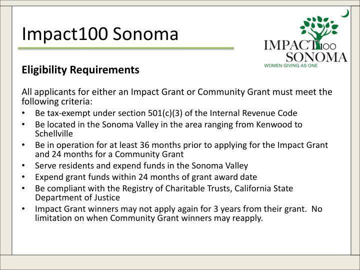 Impact100 Sonoma