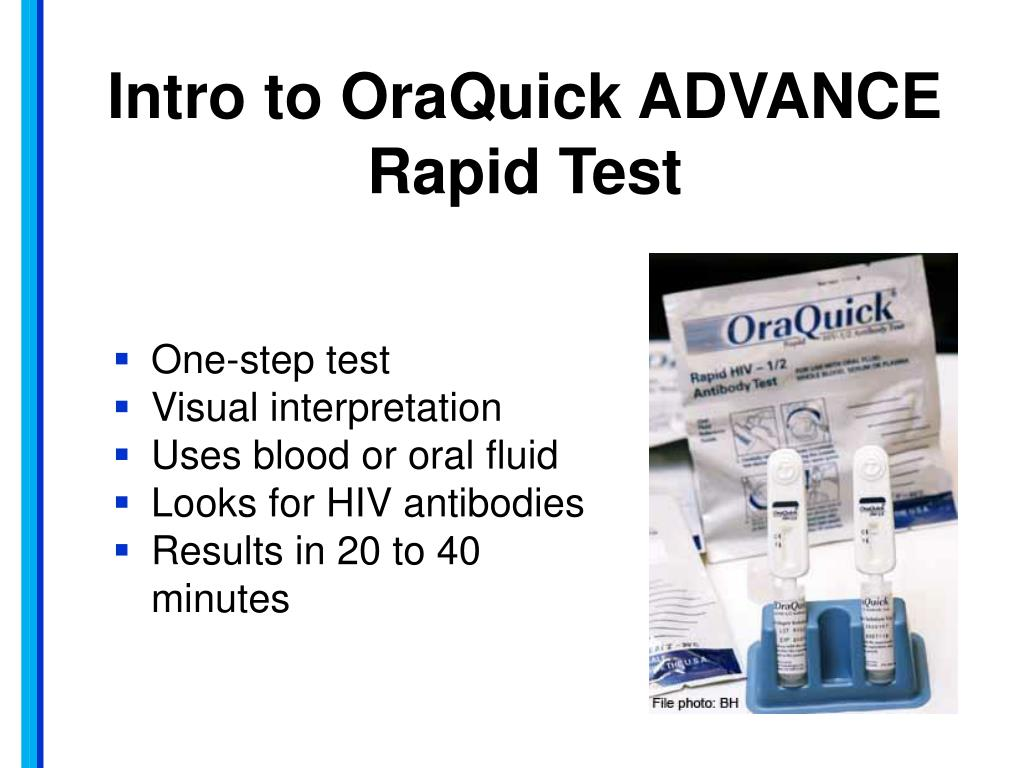 PPT - OraQuick ADVANCE How to Run the Test PowerPoint
