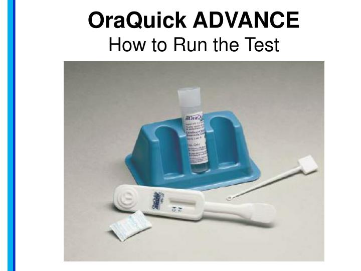 oraquick advance how to run the test n.