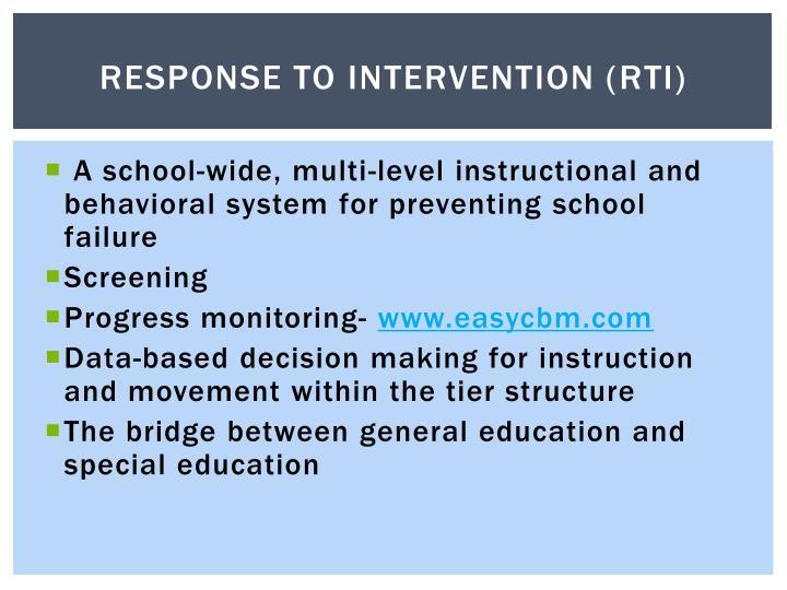 Response to Intervention (