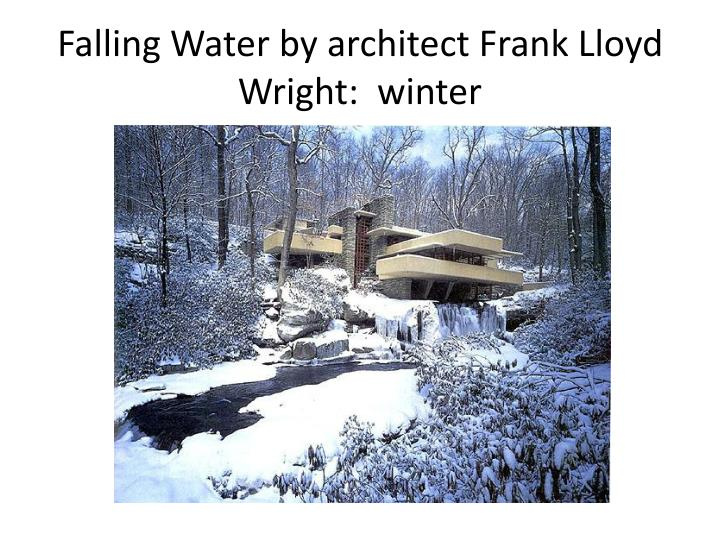 Falling water by architect frank lloyd wright winter