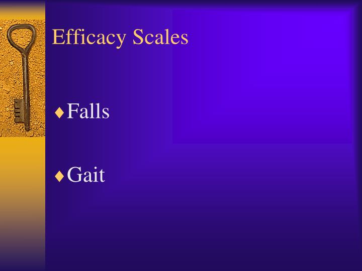 Efficacy Scales
