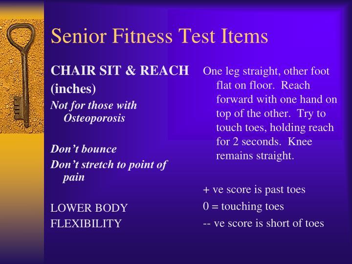 CHAIR SIT & REACH